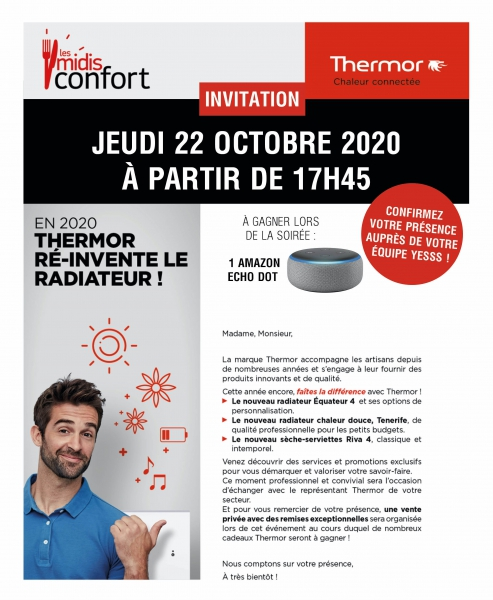 Invitation Midi Confort Thermor 22 Oct