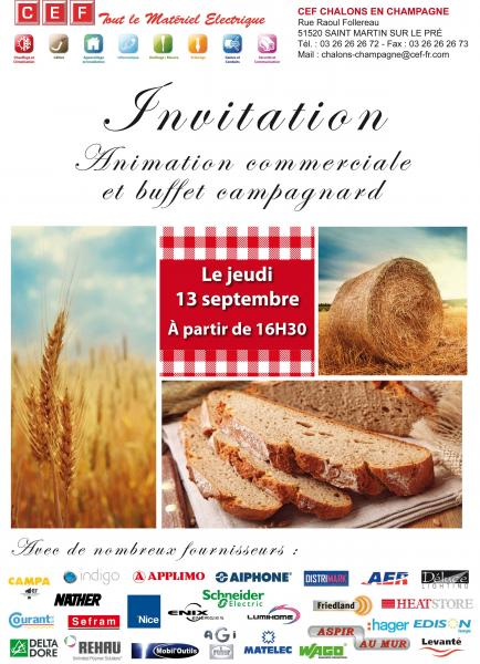 invitation animation commerciale le jeudi 13 septembre