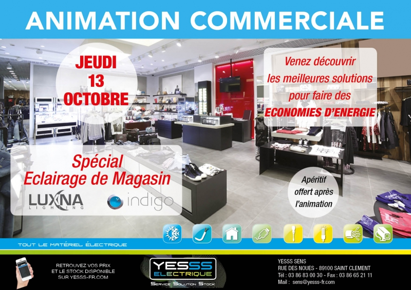 Animation commerciale sp ciale clairage de magasin for Chambre commerciale 13 octobre 1998