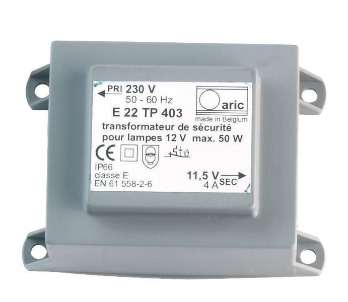 Transfo Tj50va Ip44 Cable 2 7m Aric Ref 0888 Accessoires Pour