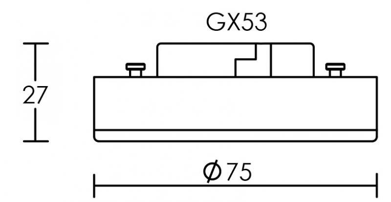 lampe gx53 led 7w 2700k 550lm cl nerg a 35000h aric ref 2942 source led lampes. Black Bedroom Furniture Sets. Home Design Ideas