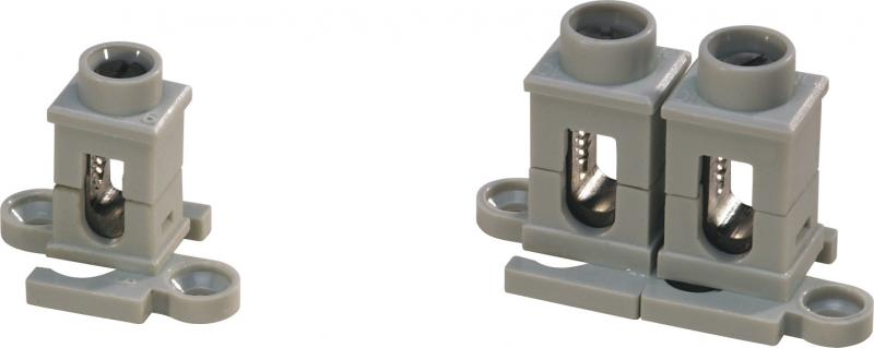 borne a pattes 2x50mm ebenoid ref 086905 bornes avec patte connexion et fixation. Black Bedroom Furniture Sets. Home Design Ideas