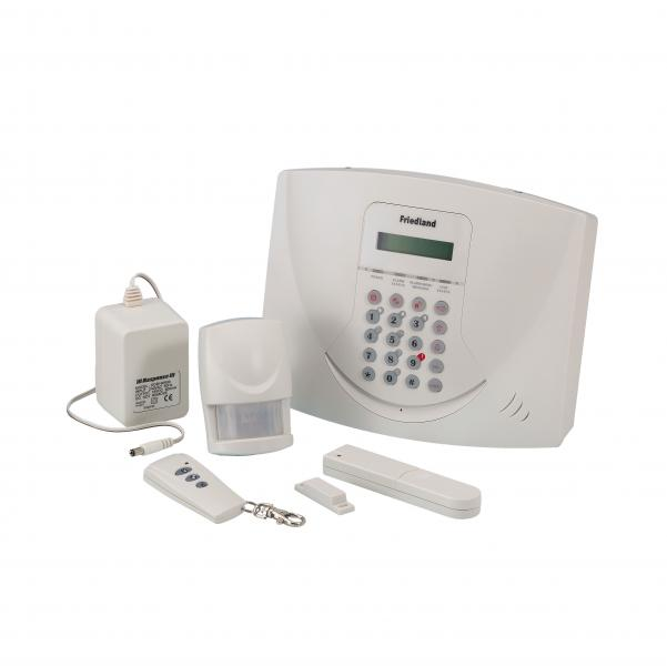 kit d 39 alarme sans fil 6 zones avec afficheur et transmetteur t l phonique interactif response. Black Bedroom Furniture Sets. Home Design Ideas