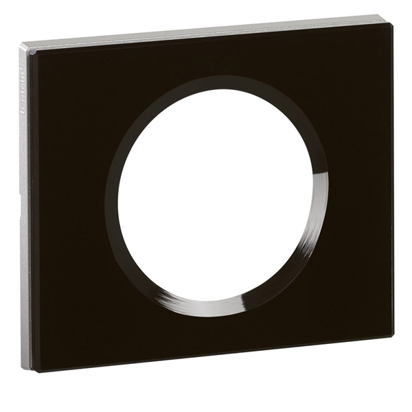 plaque c liane 1 poste verre piano legrand ref 069301. Black Bedroom Furniture Sets. Home Design Ideas