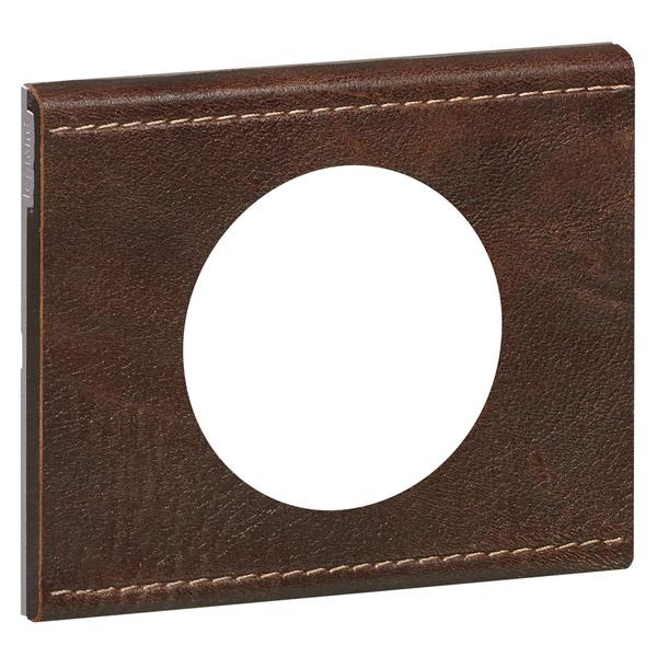 plaque c liane 1 poste cuir brun textur legrand ref 069401 composable plaques 1p. Black Bedroom Furniture Sets. Home Design Ideas