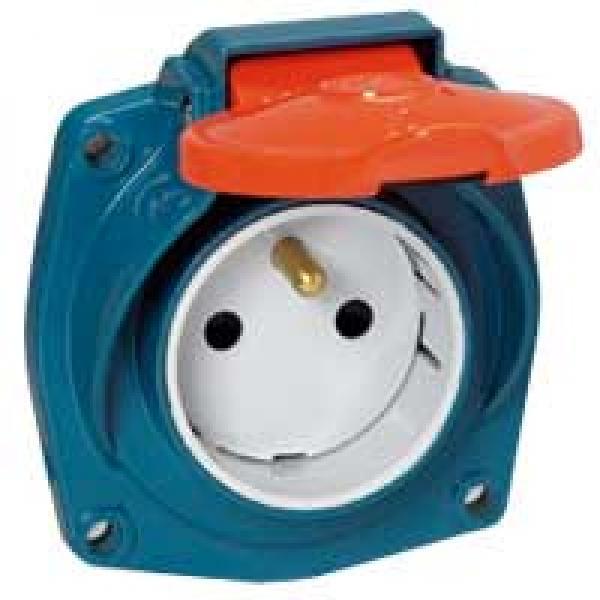 Socle tableau ml ip44 16 a 200 250 v 2p t m tal legrand ref 05390 - Socle prise de courant ...