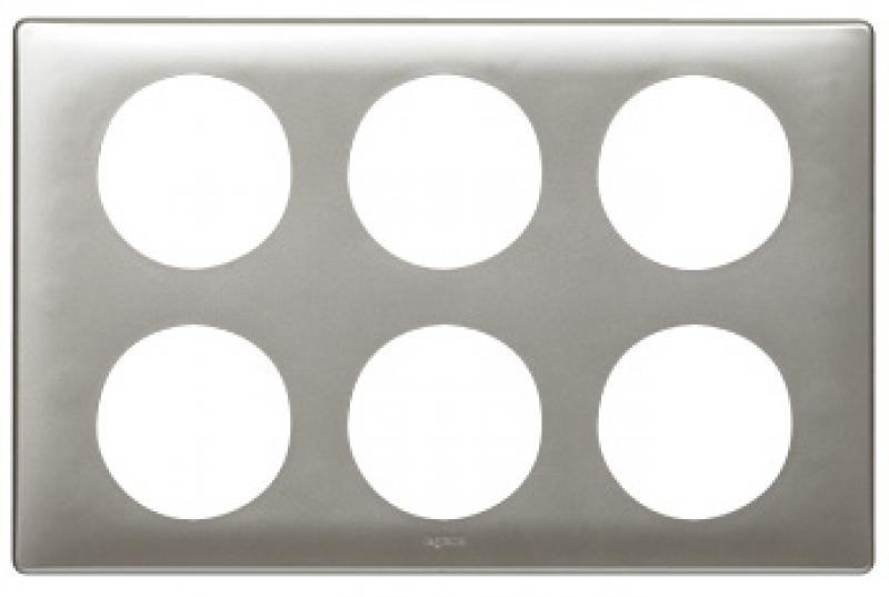 plaque c liane anodis 2 x 3 postes titane legrand ref 068969 composable plaques autres. Black Bedroom Furniture Sets. Home Design Ideas