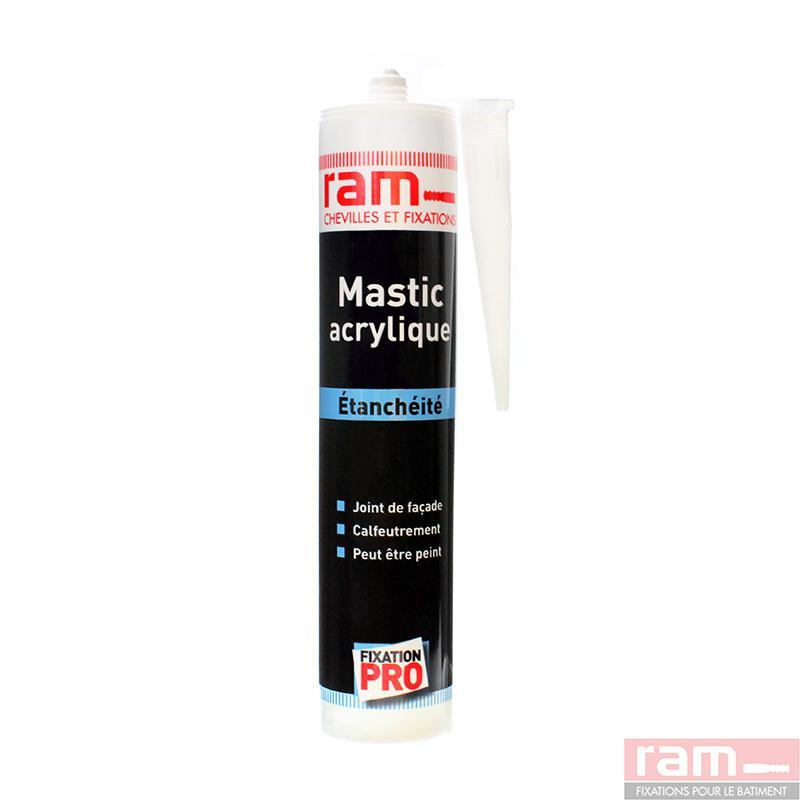 mastic acrylique blanc 300 ml r a m ref 63610. Black Bedroom Furniture Sets. Home Design Ideas