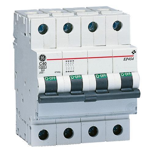 Disjoncteur ep 45 4p 20 courbe c ge industrial solutions - Disjoncteur courbe c ...