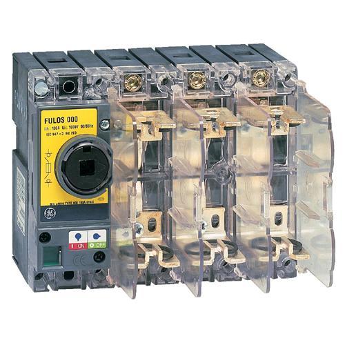 Fulos 000 inter sectionneur fusibles din 32a 3p rouge jaune ge industrial solutions ref - Sectionneur porte fusible telemecanique ...