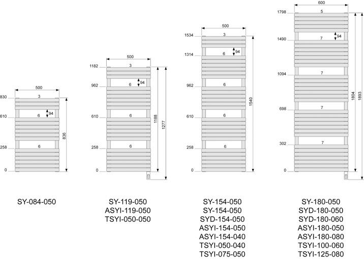 Altai spa mixte blanc 1236 1200w acova ref asyi180080 salle de bain s che - Radiateur seche serviette 40 cm ...