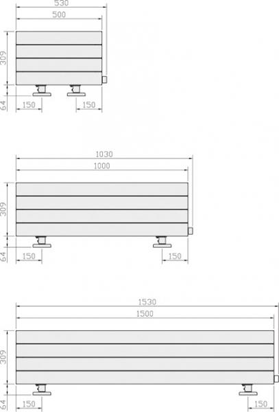 radiateur caloporteur fassane plinthe electrique blanc. Black Bedroom Furniture Sets. Home Design Ideas