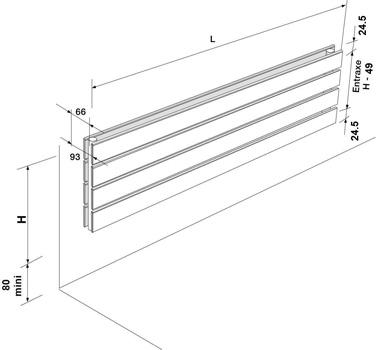 fassane horizontal double blanc 1283w acova ref vxd059120. Black Bedroom Furniture Sets. Home Design Ideas