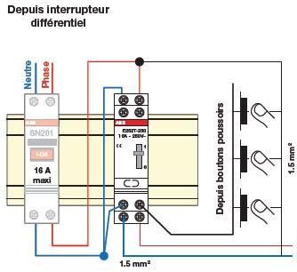 Telerupteur unipolaire 16a 230v e251t 23 abb basse tension ref 435004 t l rupteurs commande - Branchement d un telerupteur ...