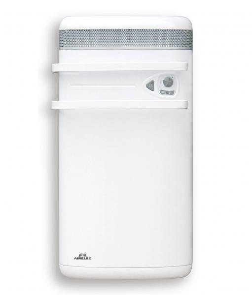 Radiateur seche serviettes indigo 1400w blanc airelec ref - Puissance seche serviette salle de bain ...