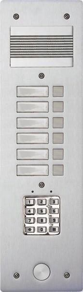 platine s rie 200cc aluminium 4 mm 6 bp bticino. Black Bedroom Furniture Sets. Home Design Ideas