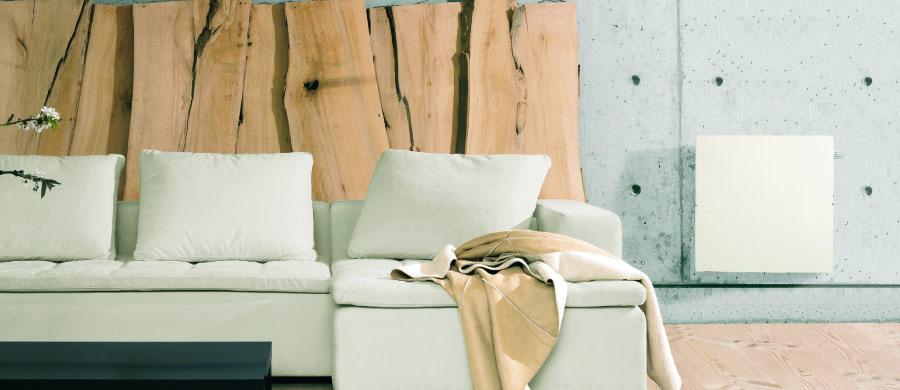 radiateur touch carr 50x50cm 800w blanc cachemire valderoma ref bc0800t radiateur chaleur. Black Bedroom Furniture Sets. Home Design Ideas