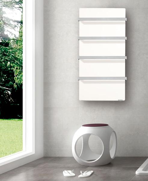 s che serviettes barre inox touch vertical 50x100cm 800w blanc cachemire valderoma ref bc08blt. Black Bedroom Furniture Sets. Home Design Ideas
