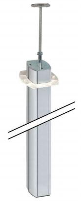 Colonne k45 n 7 110x80mm 2 faces hauteur 3m aluminium for Colonne bureau