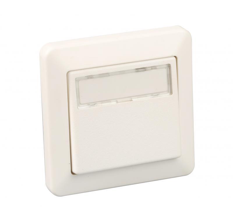 bouton poussoir encas porte etiquette ip44 blanc eurohm ref 60764 monobloc complet. Black Bedroom Furniture Sets. Home Design Ideas