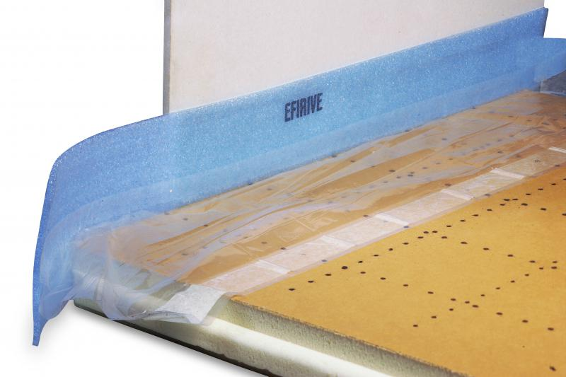 Efirive 150 mm en 8 mm efisol ref 17995 plancher - Bande peripherique chape ...