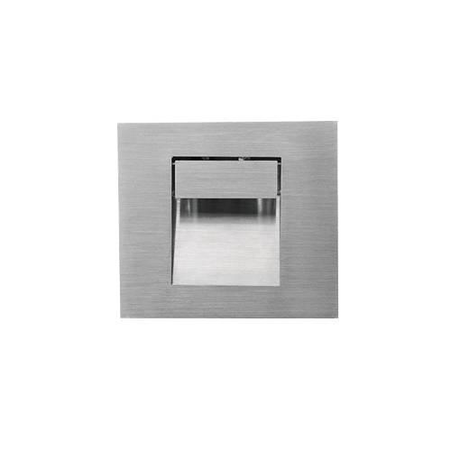 ko 703s led spot encastr carr 1w avec verre inox 304. Black Bedroom Furniture Sets. Home Design Ideas