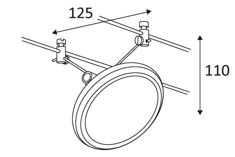 halo spot m tallique 50w pour cable 12v chrome indigo ref mz618323 d coratif syst me c bles. Black Bedroom Furniture Sets. Home Design Ideas