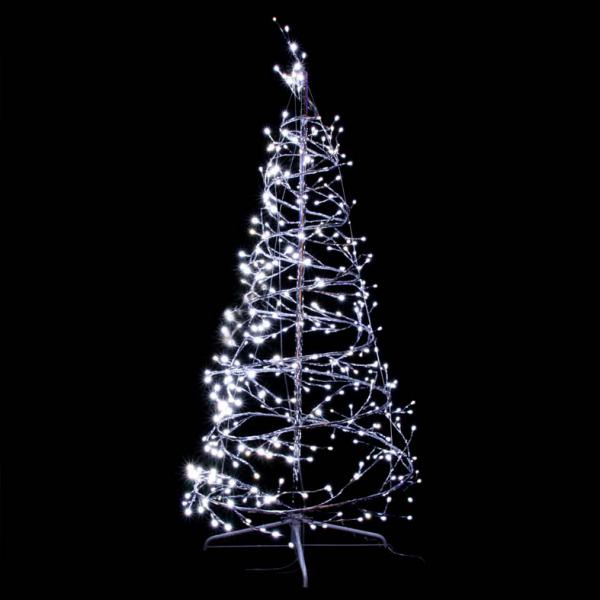 Sapin spirale h2 10m x 80cm 704 led blanc p tillant for Sapin led interieur