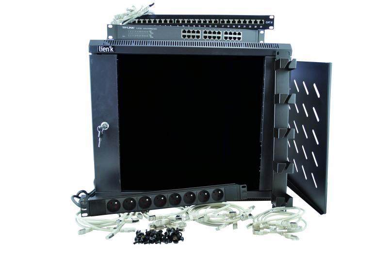 kit coffret 19 9u 24 ports cat 6 systorm ref kit9u24p coffret 19 39 39 baie et coffret. Black Bedroom Furniture Sets. Home Design Ideas