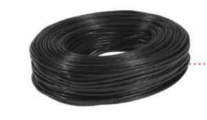 SYSTORM CABLE PLAT 4CONDUCT NOIR C100M