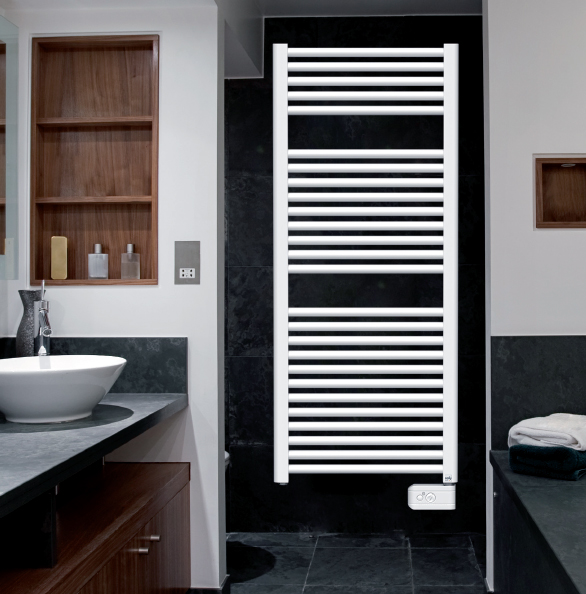 radiateur sèche serviettes droit 500w analogique fox, osily ref ... - Chauffe Serviette Salle De Bain