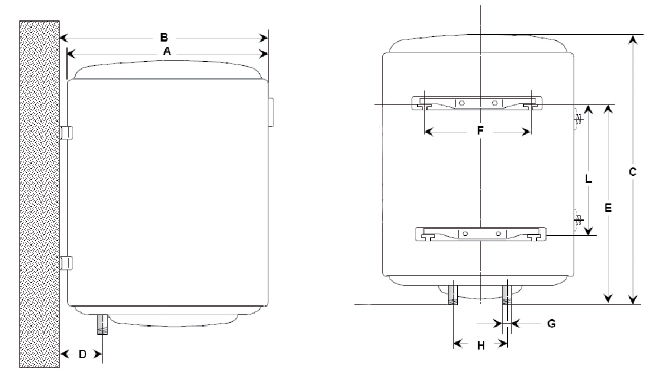 chauffe eau lectrique steatite vertical 150l osily ref os17cest4 st atite verticaux muraux. Black Bedroom Furniture Sets. Home Design Ideas