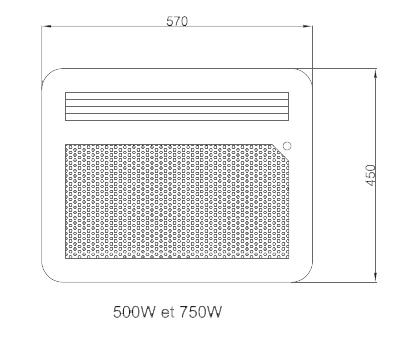 Panneau rayonnant nef 500w horizontal detecteur osily ref - Chauffage panneau rayonnant consommation ...