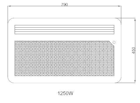 Panneau rayonnant nef 1250w horizontal detecteur osily - Chauffage panneau rayonnant consommation ...