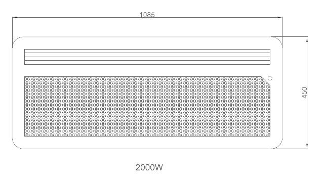 Panneau rayonnant nef 2000w horizontal detecteur osily - Chauffage panneau rayonnant consommation ...