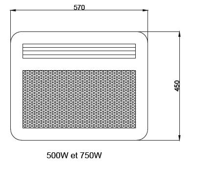 Panneau rayonnant nef 750w horizontal sans d tecteur - Chauffage panneau rayonnant consommation ...
