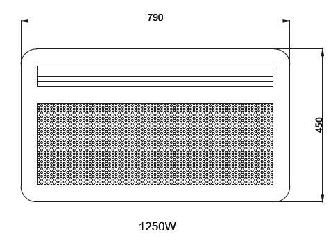 Panneau rayonnant nef 1250w horizontal sans d tecteur osily ref os03nhs04 panneau rayonnant - Chauffage panneau rayonnant consommation ...