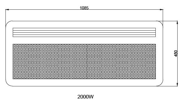 Panneau rayonnant nef 2000w horizontal sans d tecteur - Chauffage panneau rayonnant consommation ...