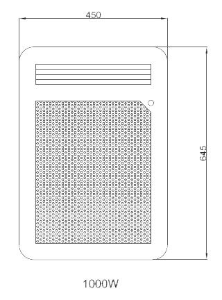 Panneau rayonnant nef 1000w vertical detecteur osily ref - Chauffage panneau rayonnant consommation ...
