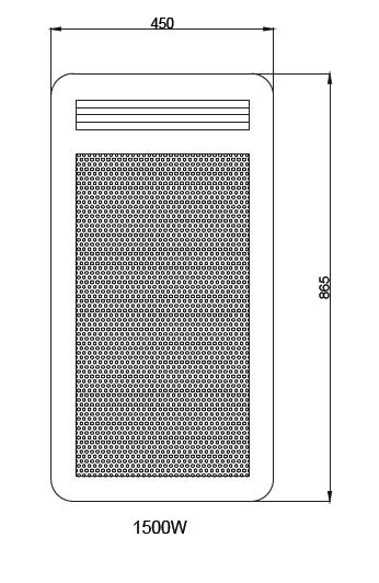 Panneau rayonnant nef 1500w vertical sans d tecteur osily - Chauffage panneau rayonnant consommation ...