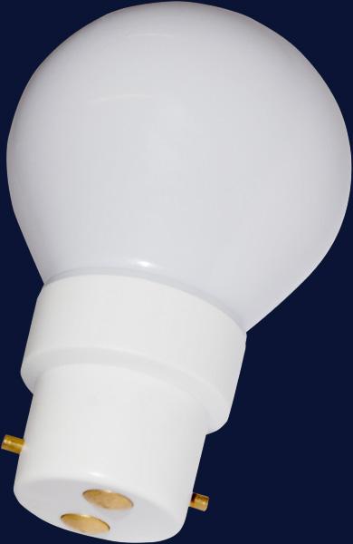 20 Ampoules Led B22 Blanches Avec Globe En Polycarbonate Blanc 230 V