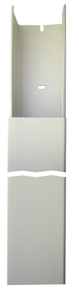 Cache-c/âbles PVC 400cm 10 pi/èces de goulotte de c/âble auto-adh/ésive nano ruban blanc 5M goulotte de c/âbles pour cacher les c/âbles Goulotte de c/âble TV pour tous les c/âbles dalimentation