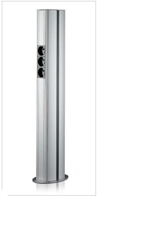 Colonnette vertica 80x115 hauteur 0 50m rehau ref - Colonne aluminium prix ...