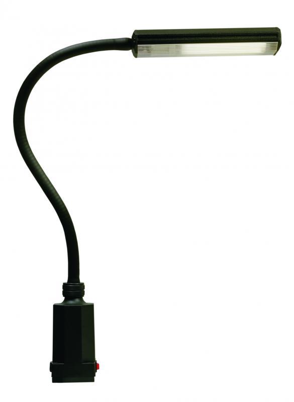 lampe fluorescente pour etabli et paillasse cl 220v 11w 700mm noire sunnex ref 14870. Black Bedroom Furniture Sets. Home Design Ideas