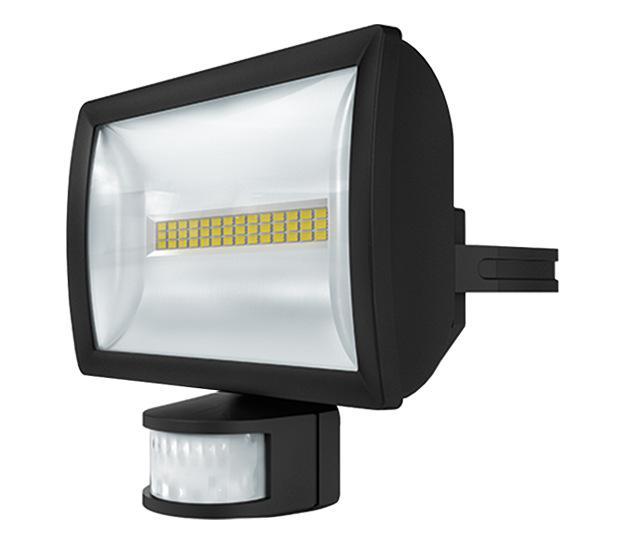 projecteur detecteur led 102 180 20w noir theben ref. Black Bedroom Furniture Sets. Home Design Ideas