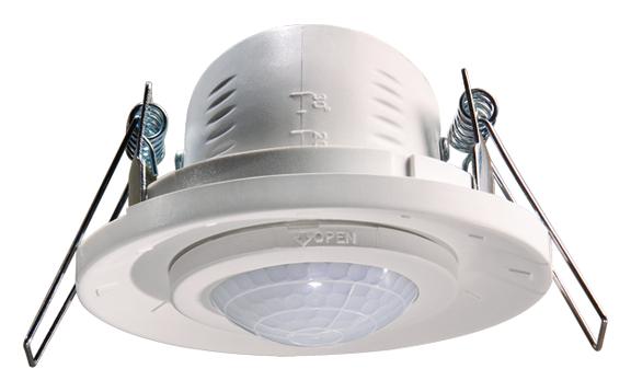 Detecteur de presence plafond 360 1 c enc theben ref - Detecteur de mouvement encastrable plafond ...