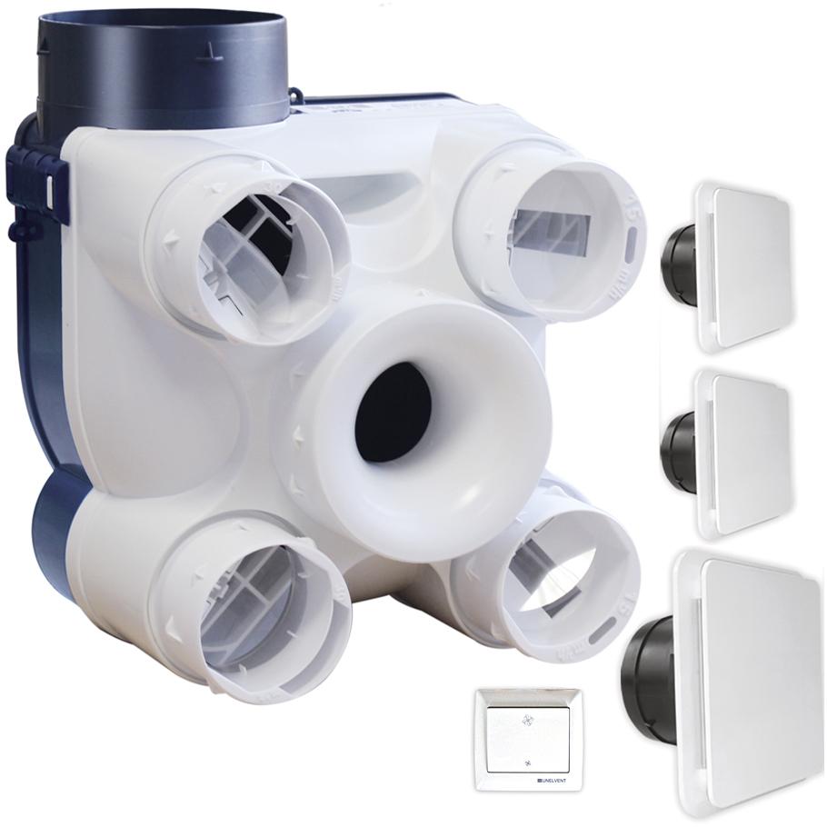Deco kit vmc auto deco avec bouches bdo s p france for Ventilation simple flux hygroreglable