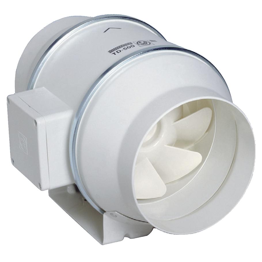 td mixvent extracteur in line pour reseau de gaines 2 vitesses 210 360 m3 h d125 mm s p. Black Bedroom Furniture Sets. Home Design Ideas