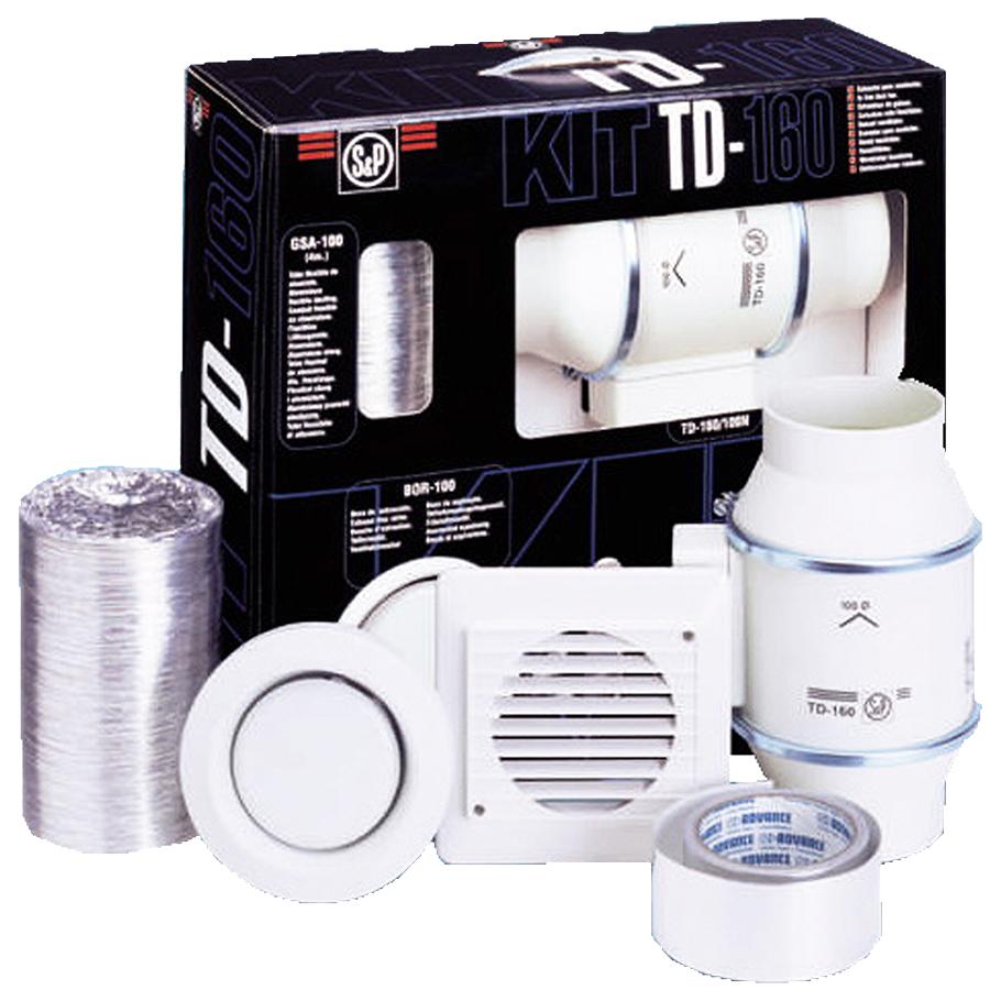 kit aeration avec extracteur in line td 250 100 n et accessoires s p france systemes de. Black Bedroom Furniture Sets. Home Design Ideas
