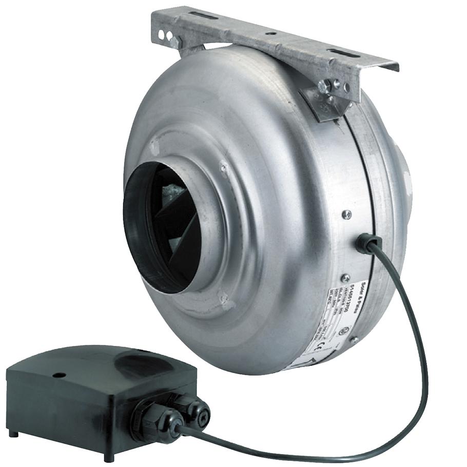 extracteur centrifuge in line 600 m3 h d160 mm s p france systemes de ventilation ref 262978. Black Bedroom Furniture Sets. Home Design Ideas